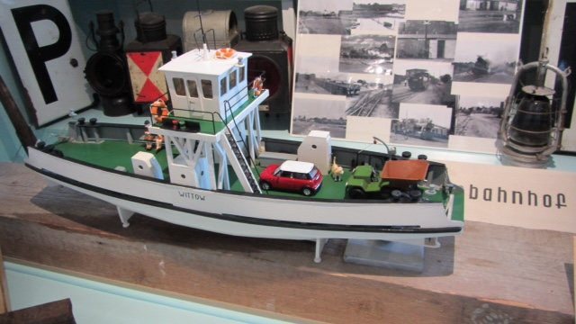 Wittower Fähre Originalmodell aus dem Heimatmuseum in Wiek